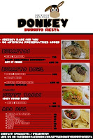 Little Donkey Burrito Fiesta Menu and Prices