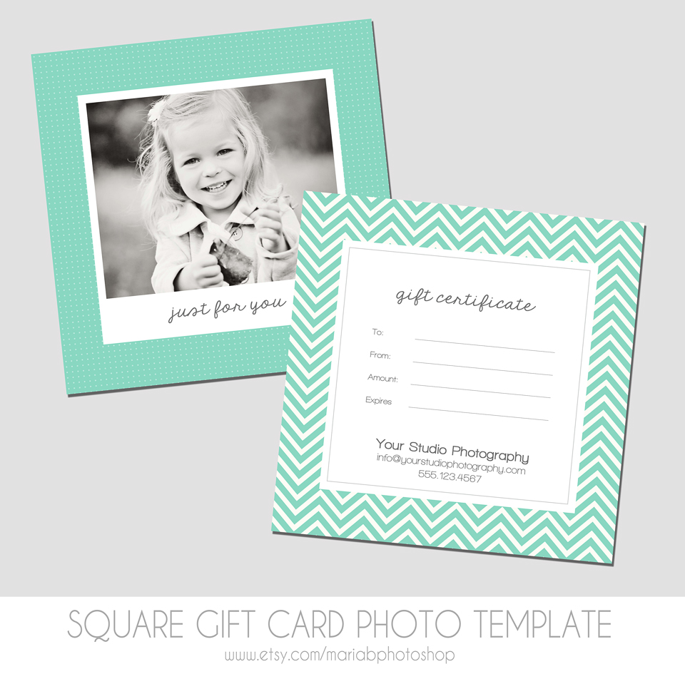 maria b photography shop  square gift certificate photo template