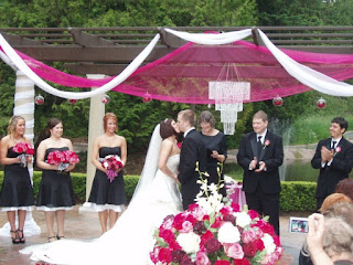 Wedding ceremony kiss - Posted by Patricia Stimac, Seattle Wedding Officiant