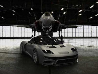 Mobil super mobil jet amerika