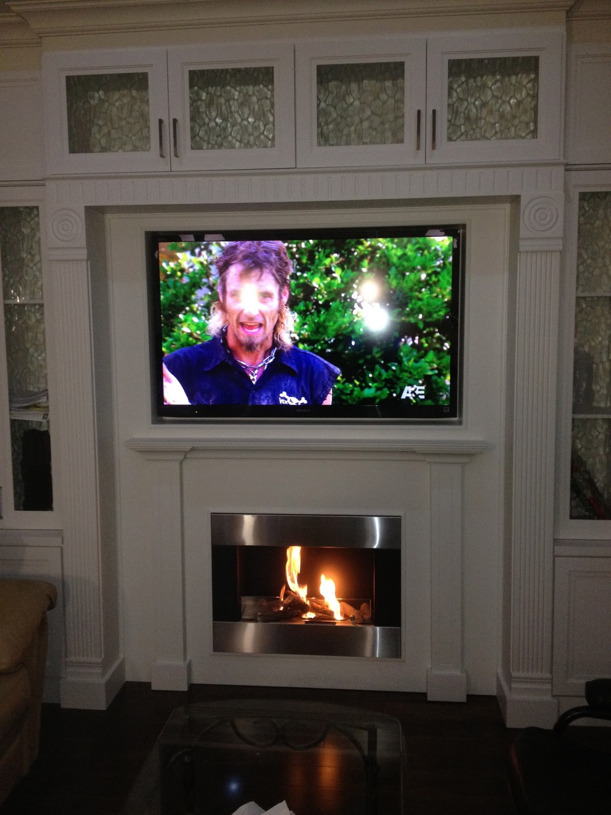 The Reno Coach Passive House Project In Toronto Our New Wall Unit With Ethanol Fireplace