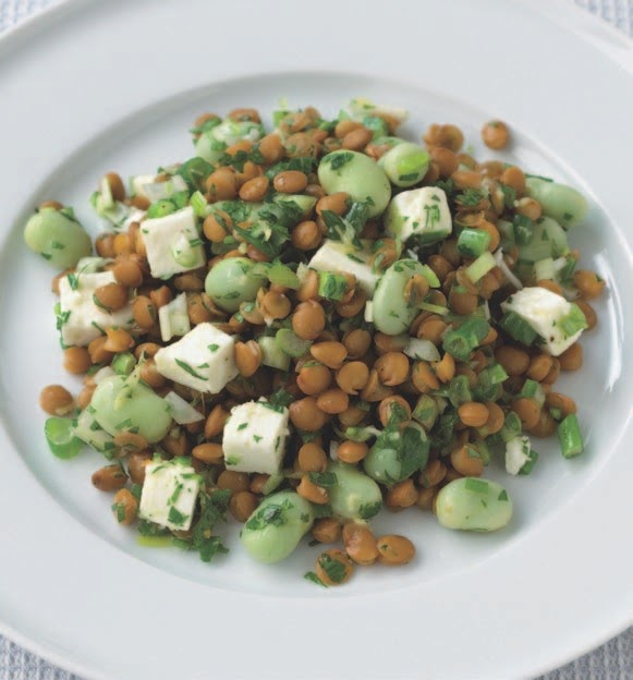 What's Cooking?: Lentil, fava bean, and feta salad