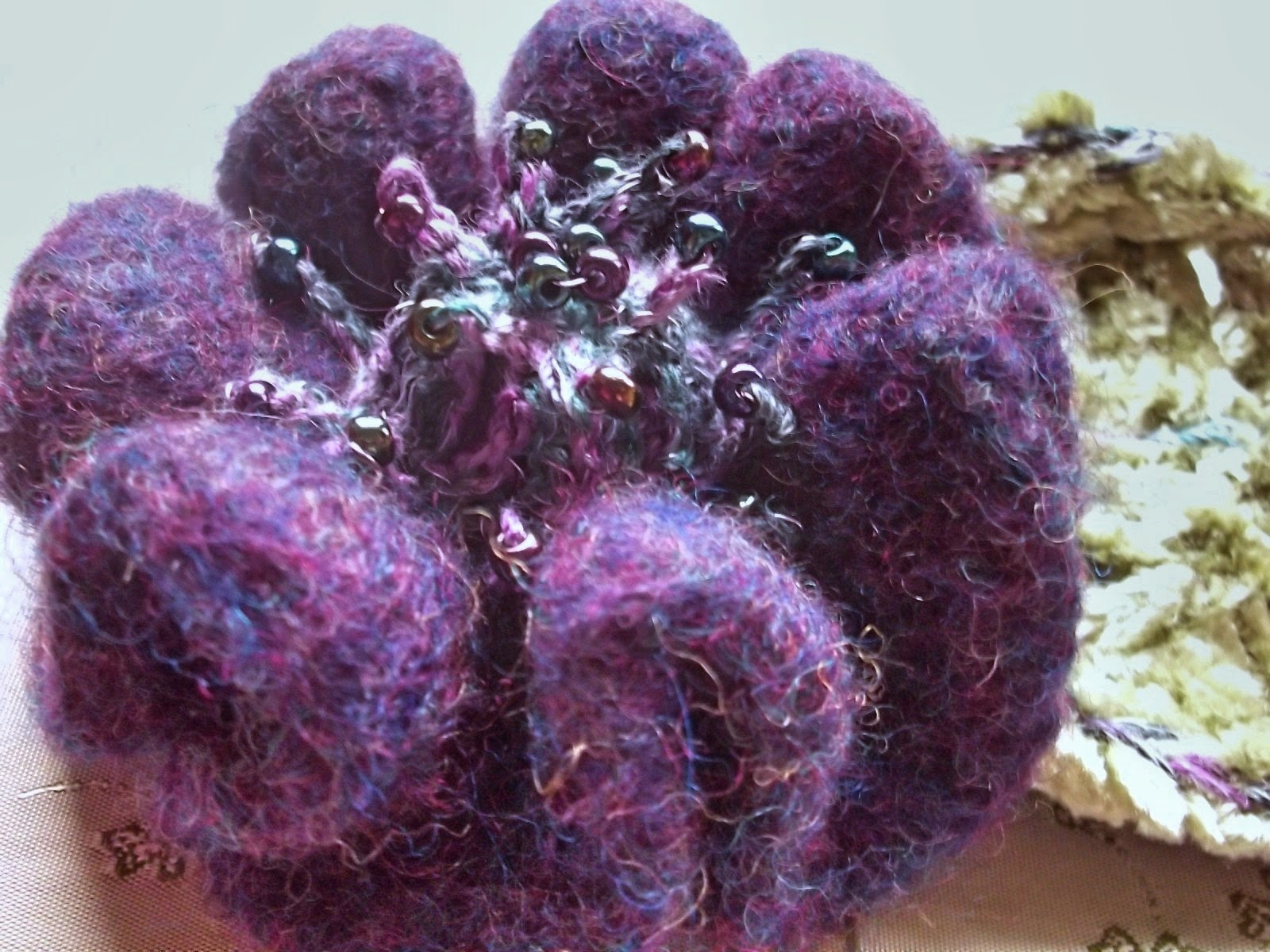 gossamer tangles the cozy winter garden crocheted felted flowers
