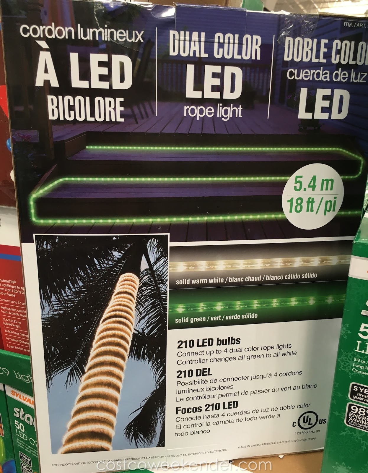 Dual color led rope light 18 ft costco weekender dual color led rope light great for christmas and the holidays aloadofball Gallery