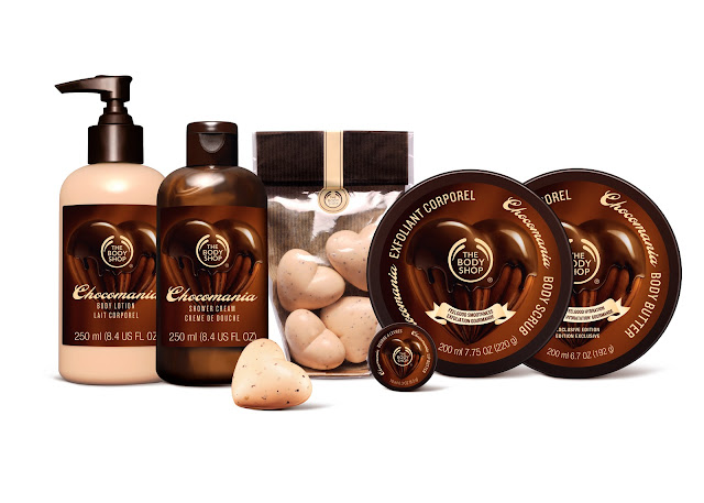 the body shop chocomania valentine range