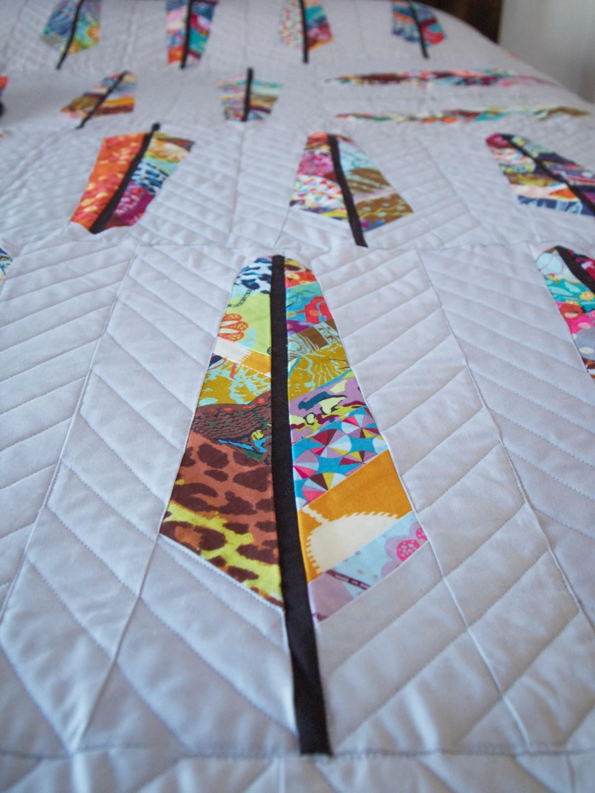 Fancy Tiger Crafts: Jaime's Feather Quilt : anna maria horner feather quilt - Adamdwight.com