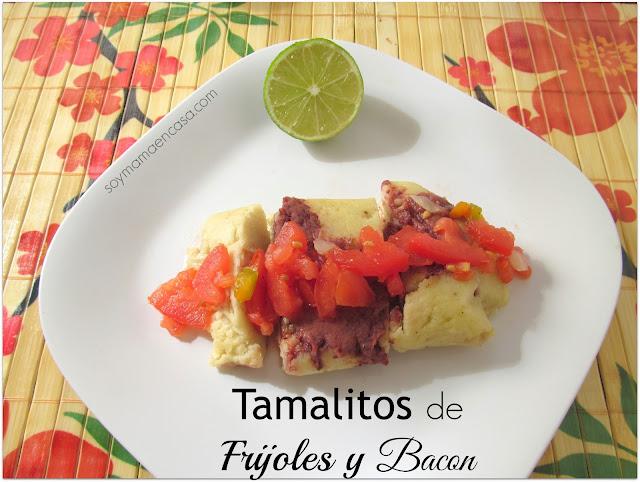 receta facil de tamales de frijoles y tocino