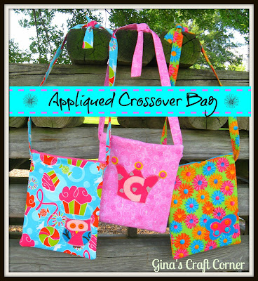 Appliqued  Butterfly Crossover Bag