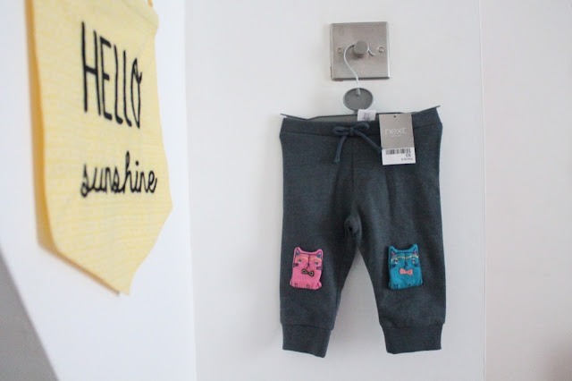 baby jogging bottoms with cat knee pads from next