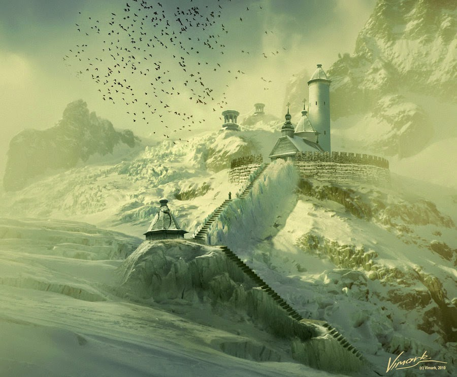 13-Monastery-Max-Mitenkov-Paintings-of-Surreal-Post-Apocalyptic-Forgotten-Worlds-www-designstack-co