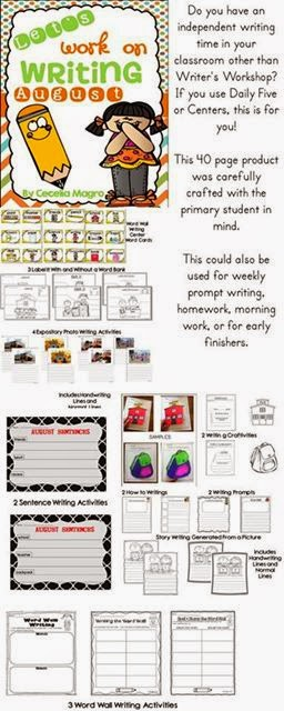 http://www.teacherspayteachers.com/Product/Lets-Work-on-Writing-August-1291279