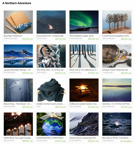 A Northern Adventure, treasury by Jennifer Kistler on Etsy