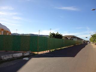 Área das obras da Praça do Marco Zero em Juazeiro do Norte.