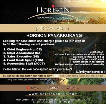 Job Vacancy Horison Panakukang