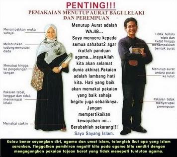 Aurat, cara tutup aurat, pemakaian sempurna dalam islam, pakaian