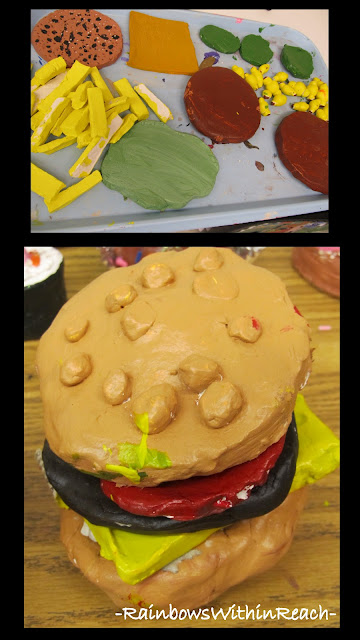 photo of: Art Room Ceramic Hamburgers (Art Room RoundUP via RainbowsWithinReach)