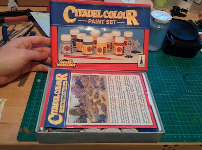 Citadel Colour Paint Set 1994 - Box Open