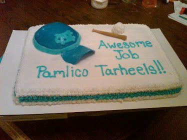 T-ball party cake