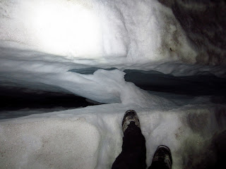 This was our first crevasses crossing after Ingraham Flats.