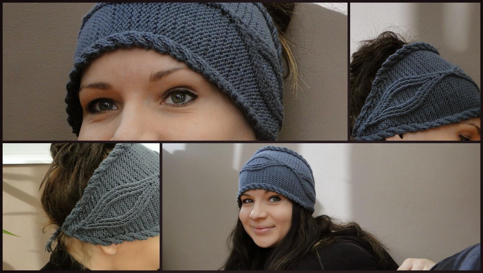 Gray Headband knitting pattern