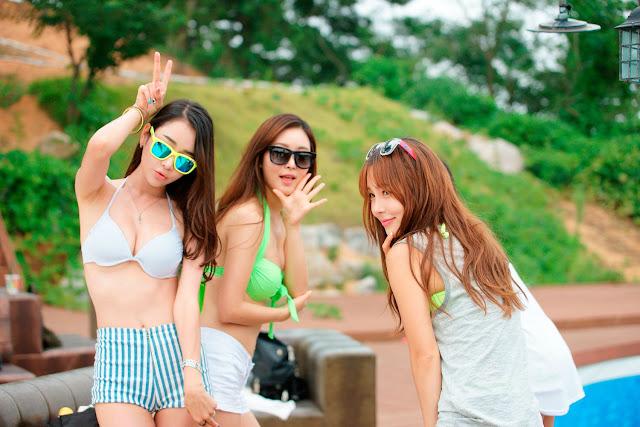 1 Lee Ji Na - Tiger Beach Festival - very cute asian girl-girlcute4u.blogspot.com