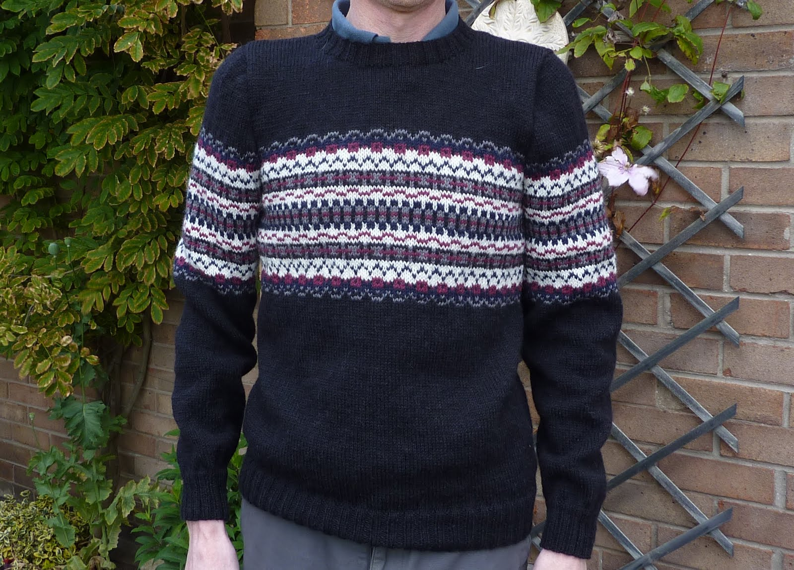 Mens Fair Isle Sweater Knitting Patterns : Yellow, Pink and Sparkly: Marcus Pattern