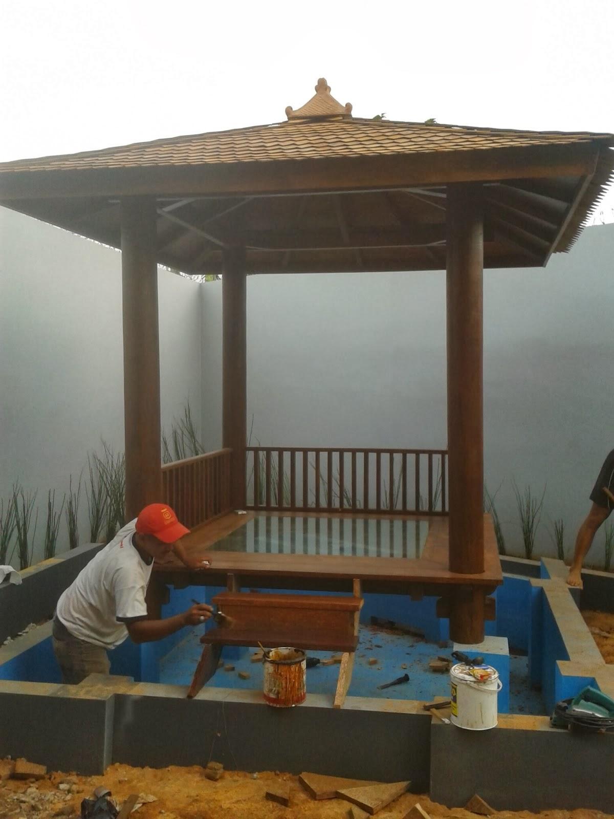 Saung Gazebo Bambu Atapsirat Tukang Taman