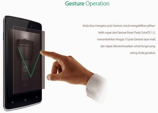 OPPO Yoyo dengan Gesture Operation