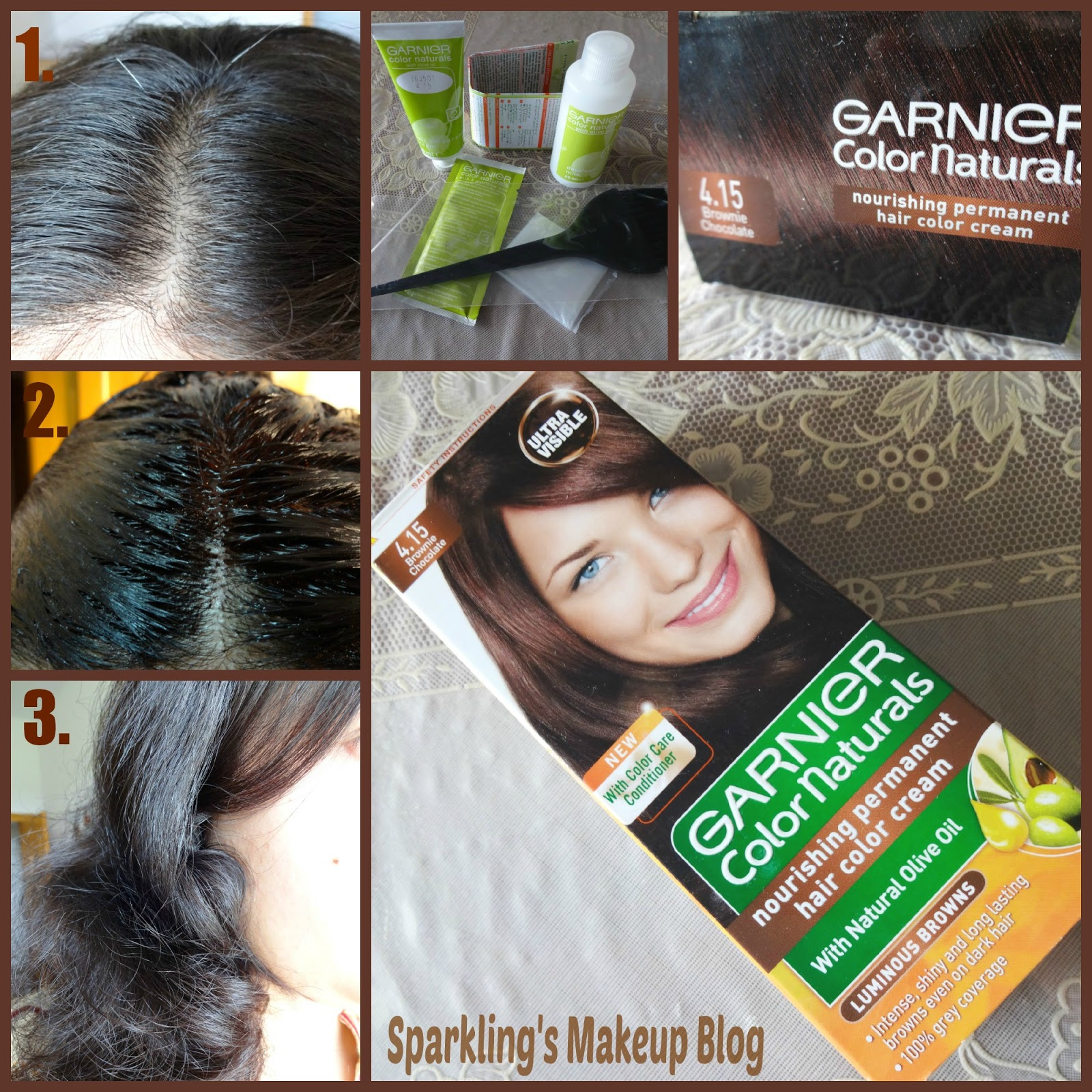 Hair Dye At Home With Garnier Color Naturals Brownie Chocolate 415