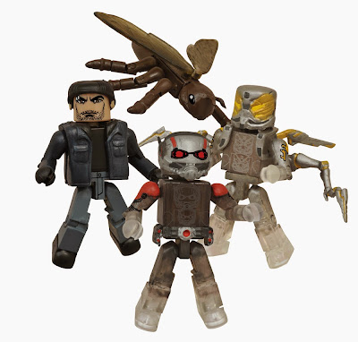 San Diego Comic-Con 2015 Exclusive Ant-Man Movie Marvel Comics Minimates Box Set - Shrinking Ant-Man, Shrinking Yellowjacket, civilian Scott Lang & Ant-Thony the Ant