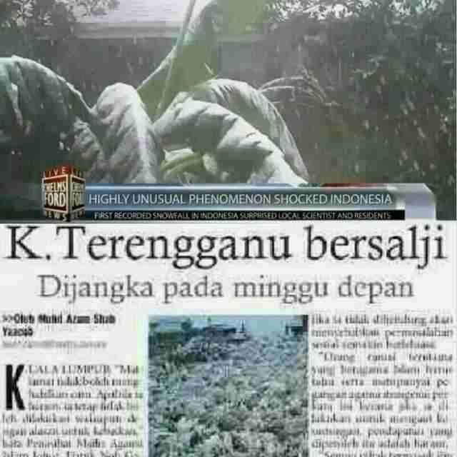 Kuala Terengganu dijangka bersalji