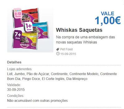 Saquetas Whiskas