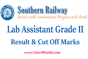 Southern Railway Lab Assistant Gr II Result 2017