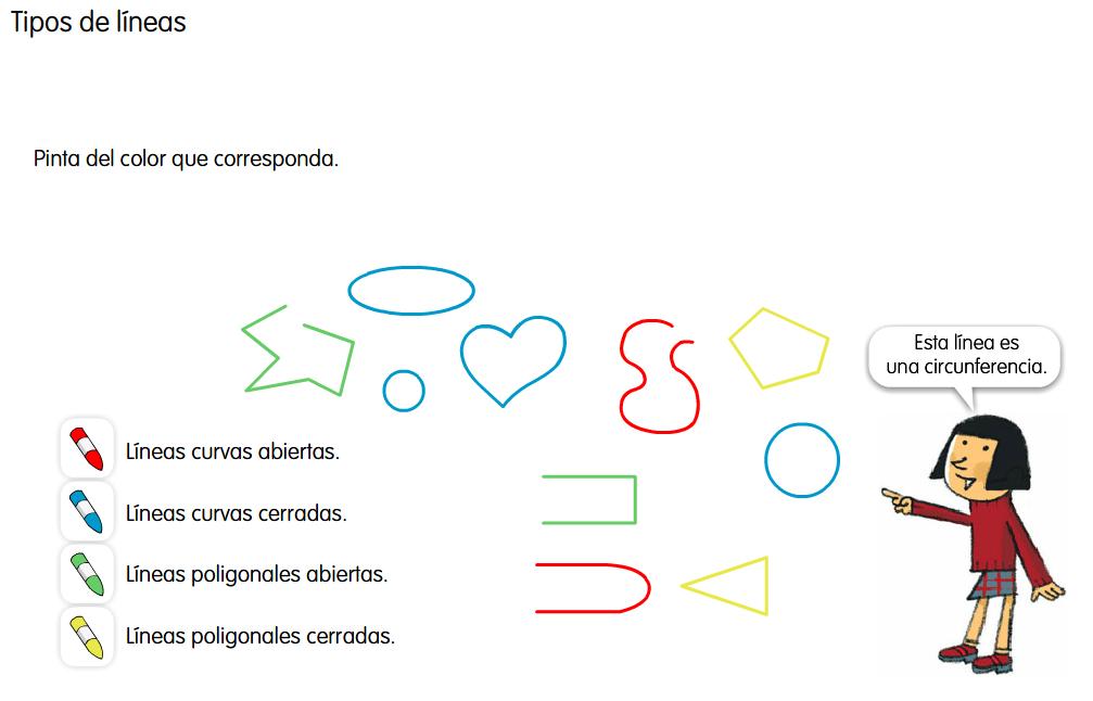 ACTIVIDAD 5  - Clasifica las líneas.  http://www.primerodecarlos.com/SEGUNDO_PRIMARIA/febrero/tema3/actividades/mates/lineas_poligonales_abiertas_cerradas/poligonal_abierta_cerrada.swf  Haz clic en la imagen para iniciar la actividad 5