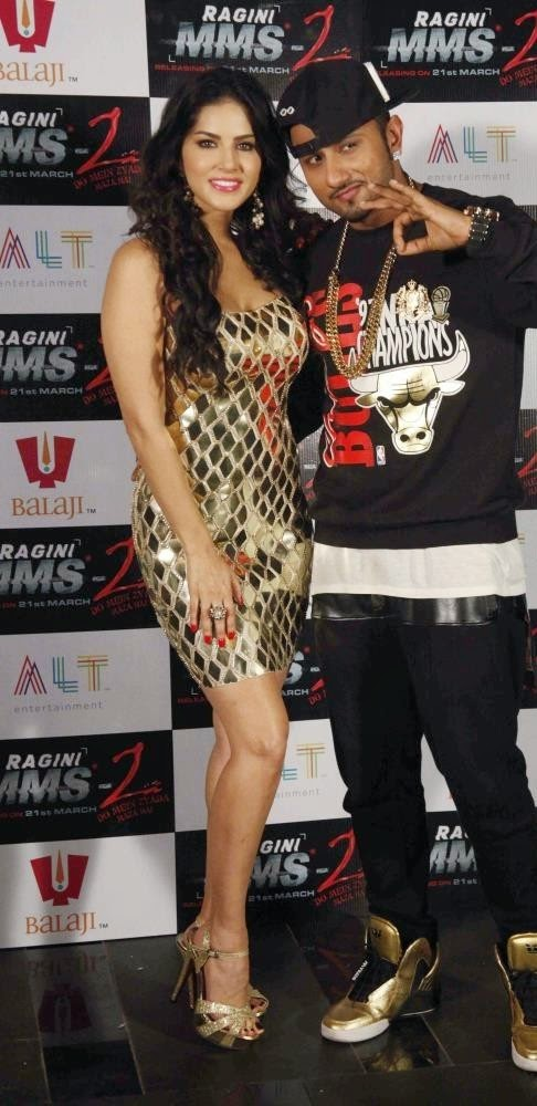 Sunny Leone :Sunny Leone and Yo Yo Honey Singh Ragini MMS 2 Promotional Pics