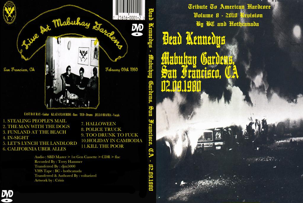 Dead Kennedys Tour Setlist