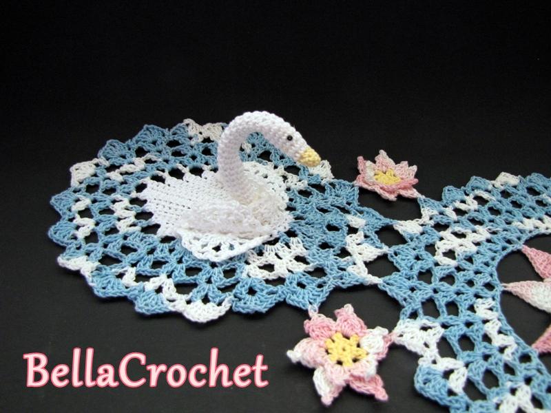 Free Crochet Swan Doily Pattern : BellaCrochet: Serene Swans Doily: A Free Crochet Pattern ...