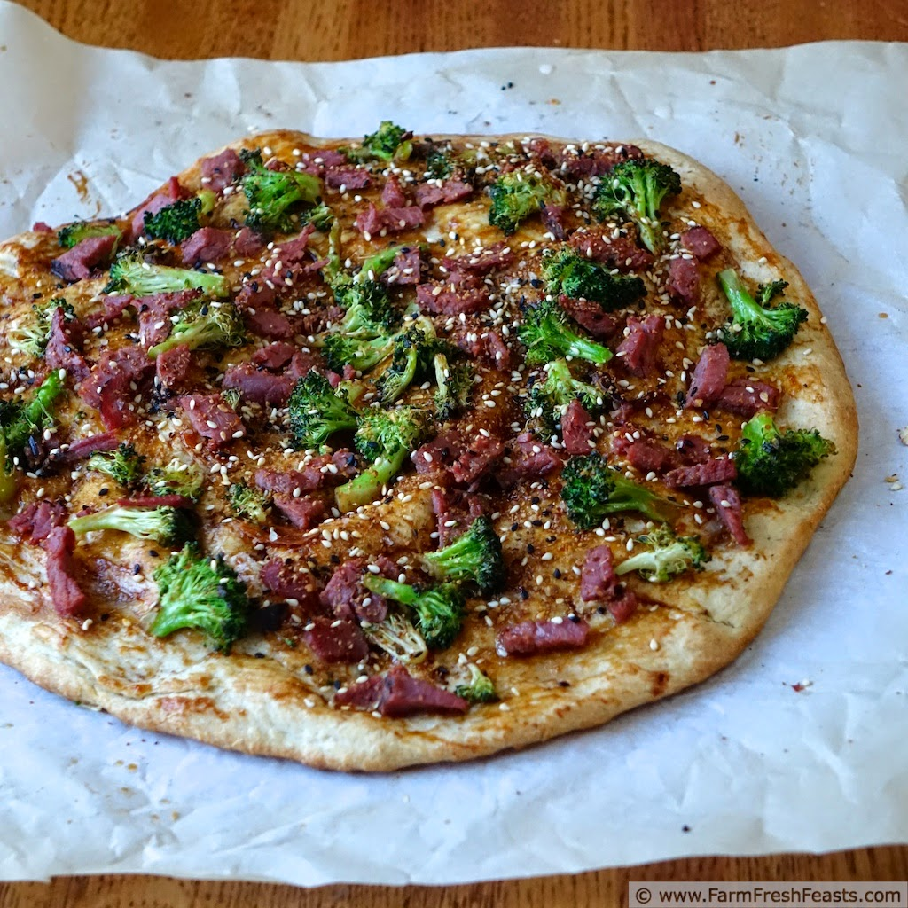 Beef and Broccoli Pizza | Farm Fresh Feasts