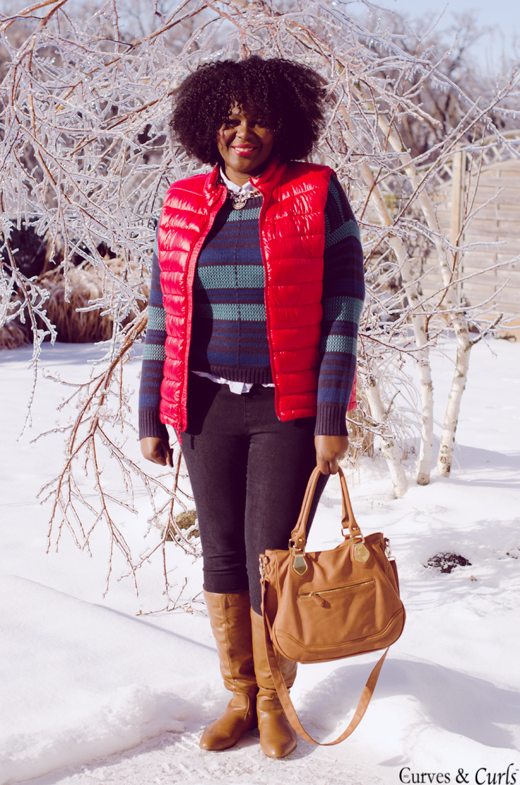 puffer vest - winter outfit inspiration