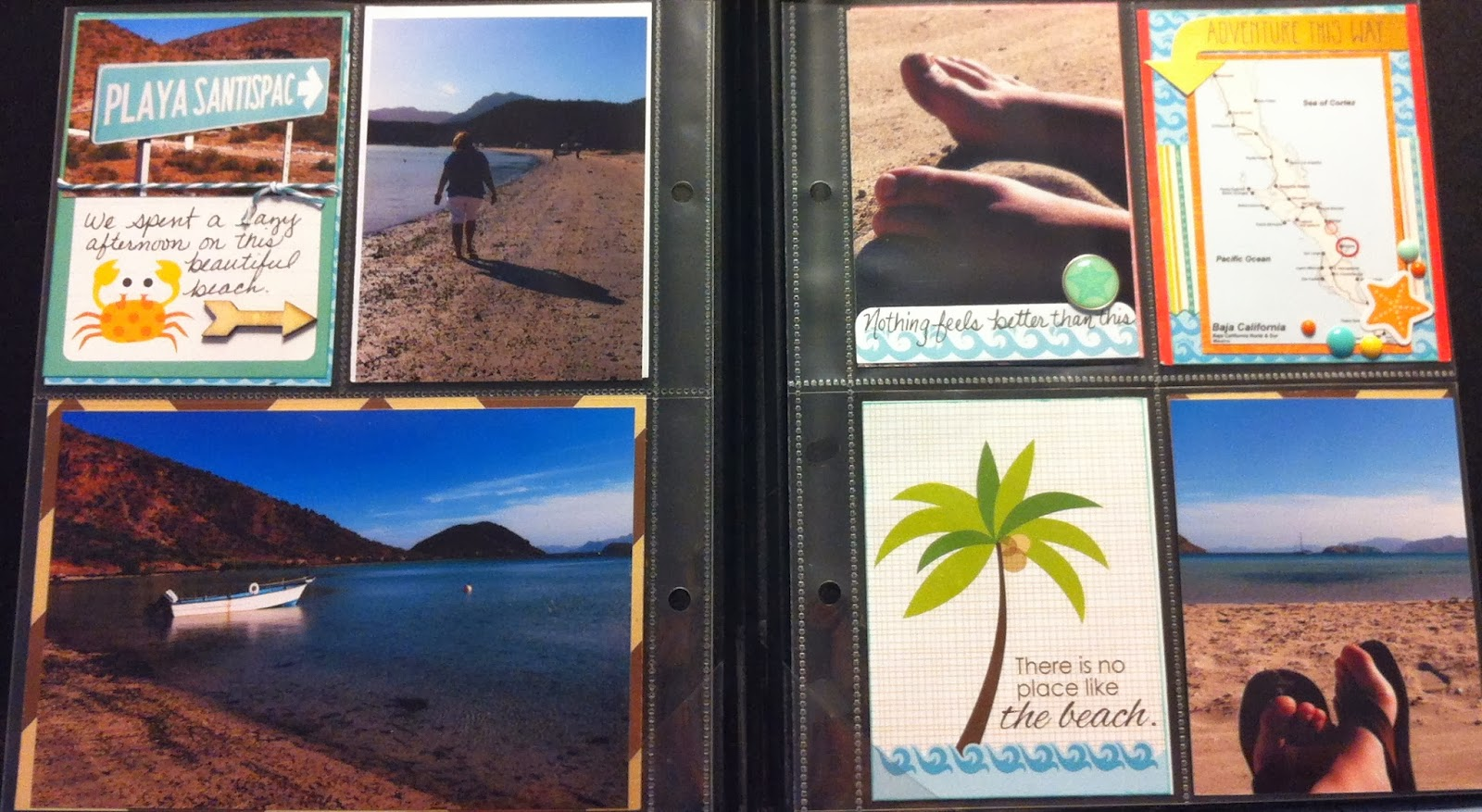 Here are a few more pages in my vacation album thanks for following my journey into pocket style scrapbooking