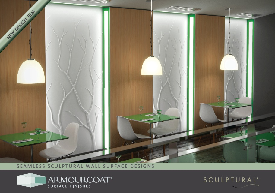Armourcoat Surface Finishes New Sculptural 174 Designs