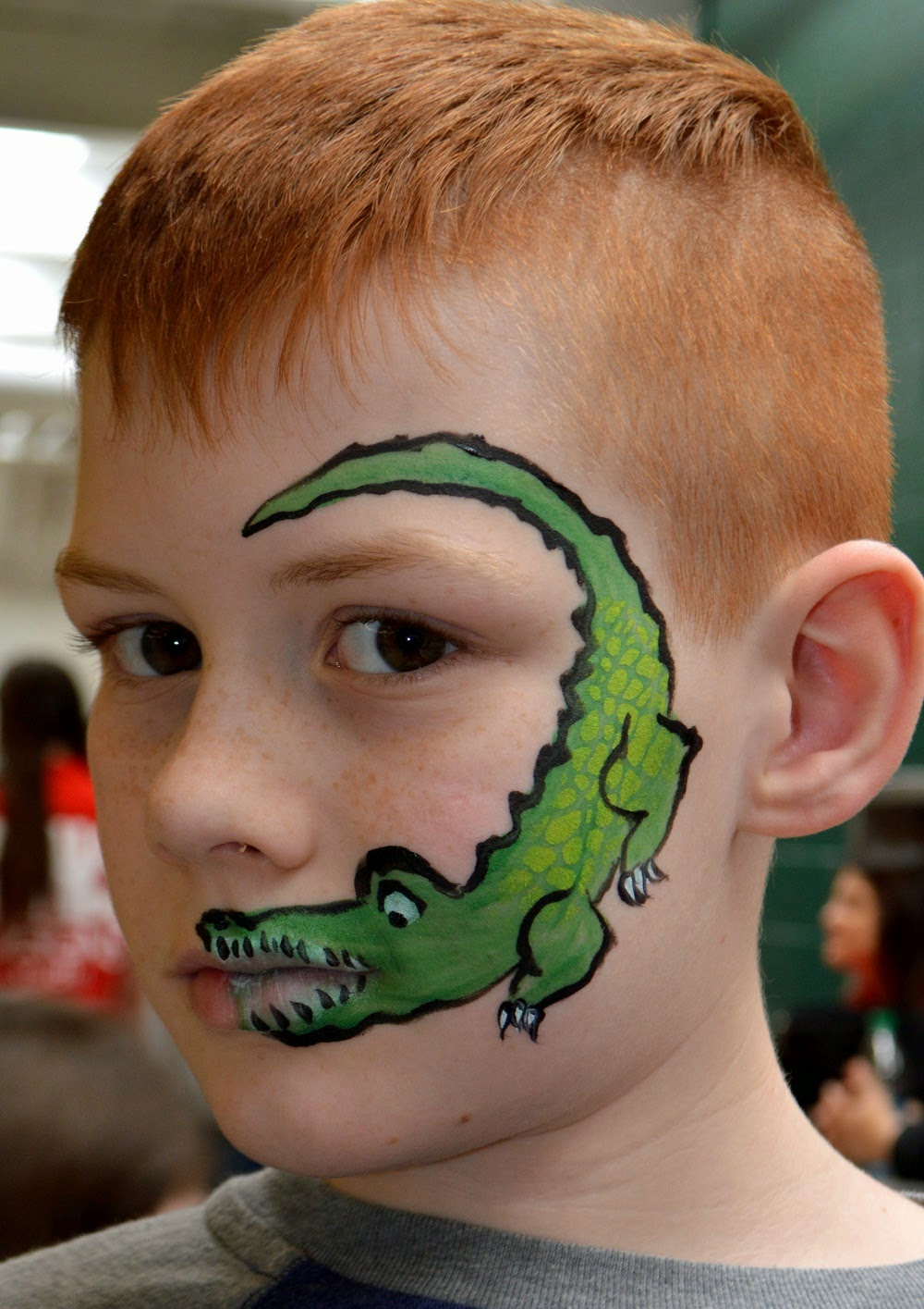 Alligator Face Painting Ideas