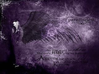 Praise Lamented Shade Dark Gothic Wallpaper