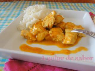 Pollo al curry con arroz basmati