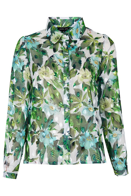 sister jane blouse, jungle blouse,