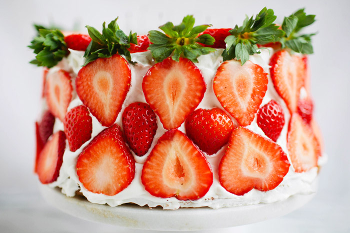Brittany Wood, angel food cake, strawberries,