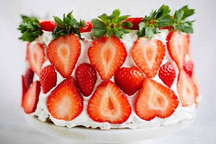 Brittany Wood, angel food cake, strawberries,