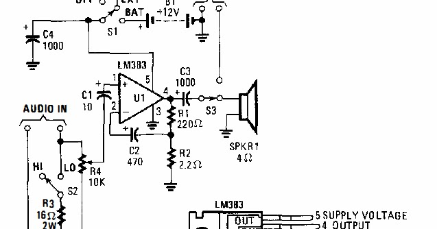 8w audio amplifier circuits