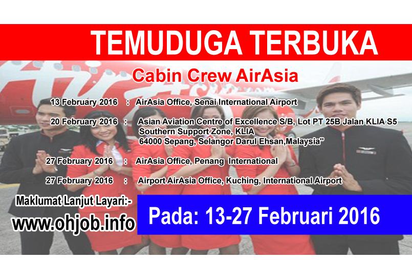 Jawatan Kerja Kosong AirAsia logo www.ohjob.info februari 2016