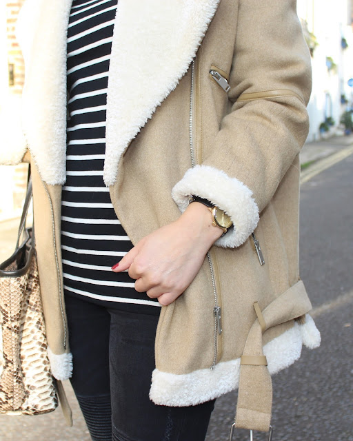 marc by marc jacobs watch, striped jumper, black and white look, london blogger, street style